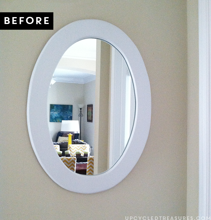 looking to transform that old mirror see how easy it is to transform it into