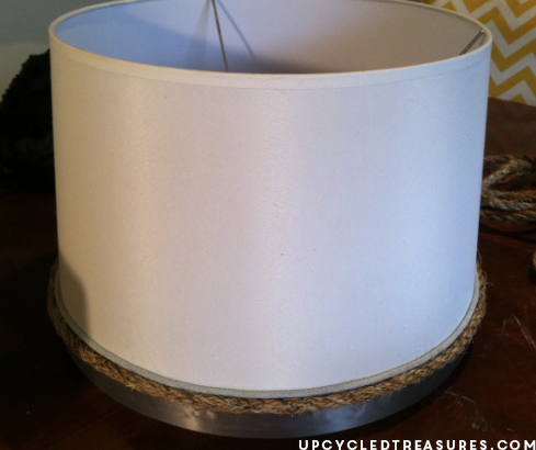 Here is a tutorial on how to make your own DIY Nautical Rope Lamp Shade and how I was able to recover from a Pinterest FAIL. UpcycledTreasures.com
