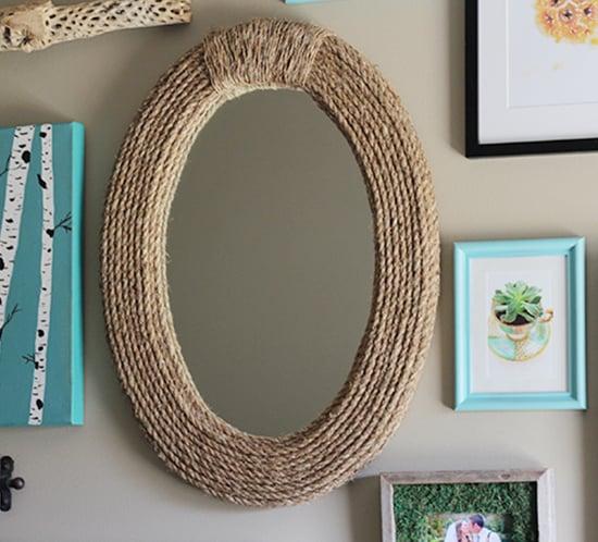 Diy Nautical Rope Mirror Upcycled Treasures