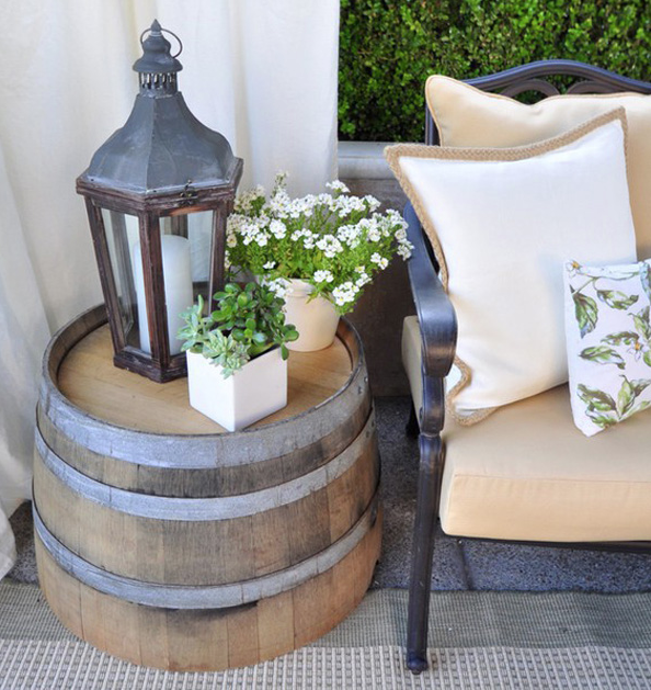 Are you looking for a rustic vibe to ad to your space? Check out some of these great ideas for decorating with Wood Barrels. allseasonshomeimprovement