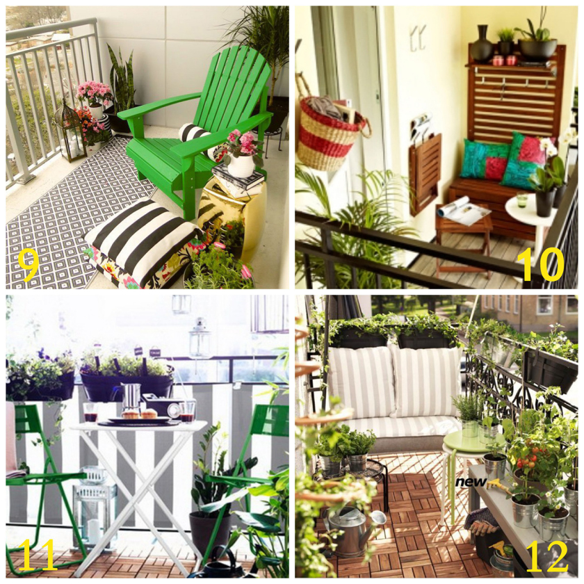 20 Inspiring Balcony Decorating Ideas - Check out these 20 small space balcony decorating ideas to inspire you to create the space you want to live in.