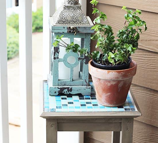 diy mosaic stand mountainmodernlife.com