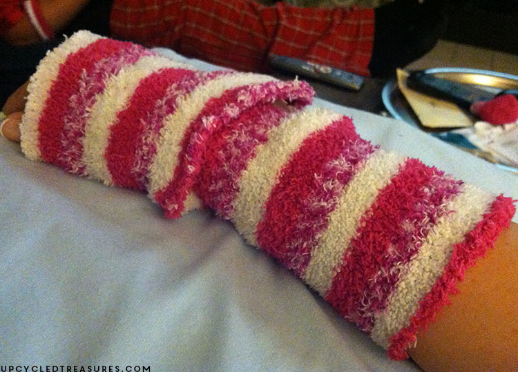 wearing-fuzzy-sock-to-help-with-crps-rsd-pain-upcycledtreasures