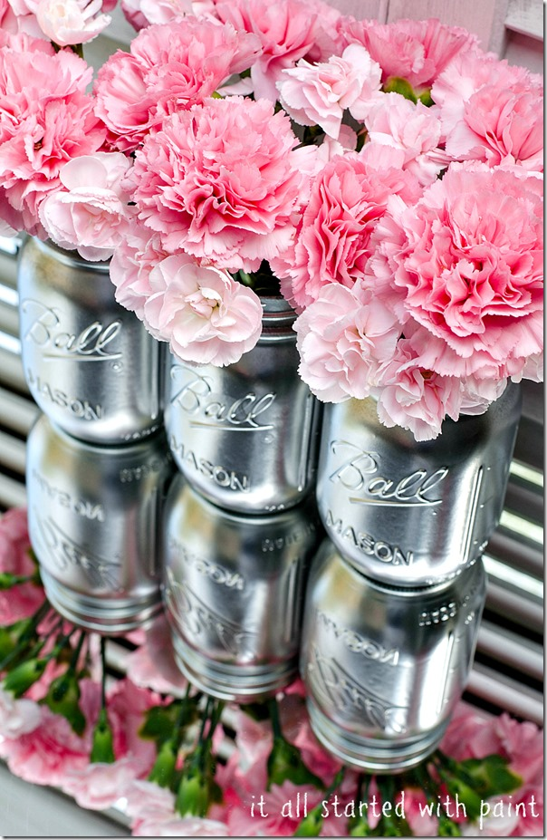 Metallic Mason Jars | It All Started with Paint
