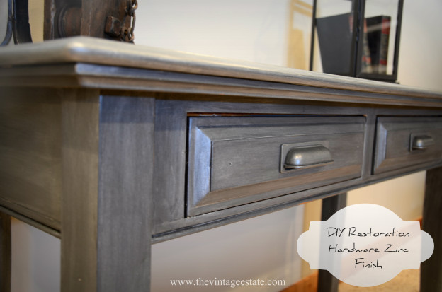 Restoration Hardware Inspired Zinc Finish Table | The Vintage Estate
