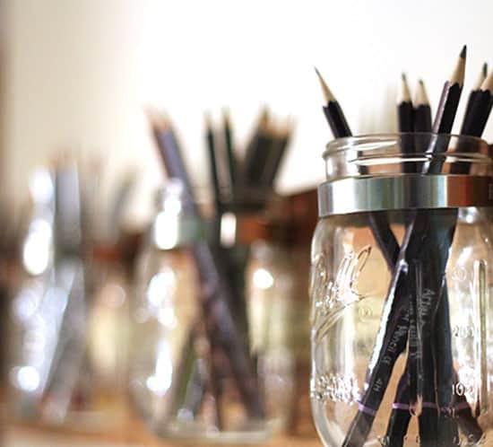 vintage yardstick mason jars wood storage tutorial mountainmodernlife.com