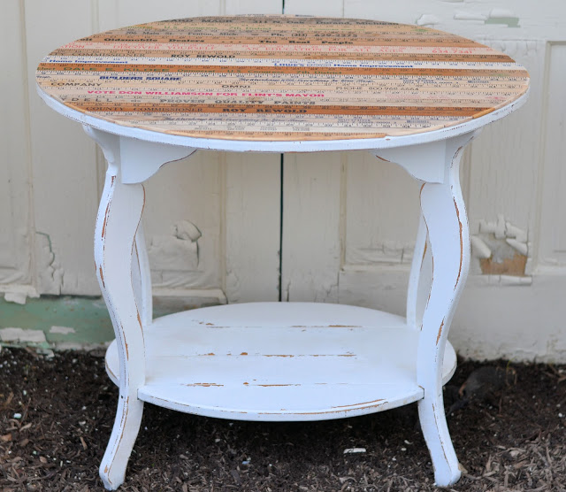 Yard Stick Table Makeover   Shabby Love
