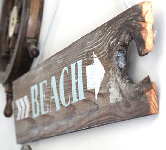 beach wood sign mountainmodernlife.com