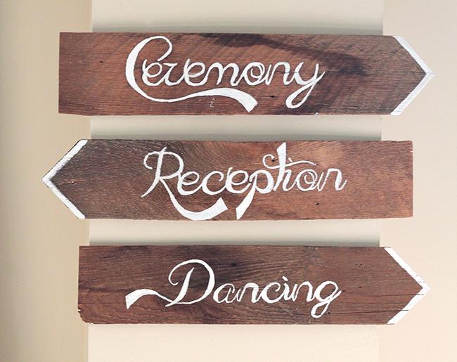 DIY Wedding Signs Using Your Printer