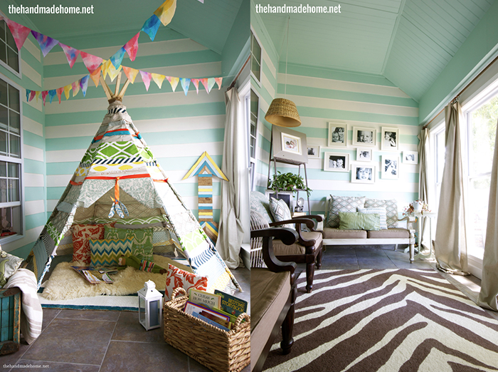 7 Inspiring Summer Spaces veranda-renovation-diy-teepee-the-handmade-home