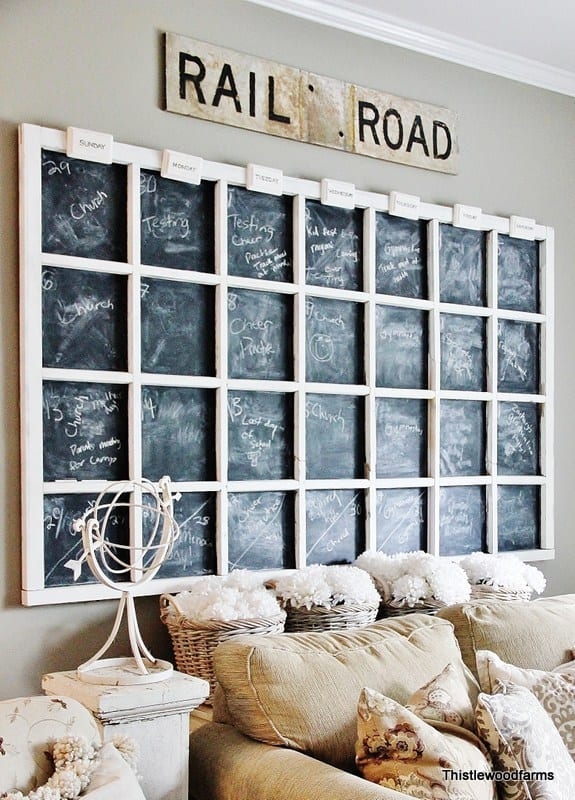 Diy Chalkboard Calendar : Creative diy chalkboard projects upcycled treasures