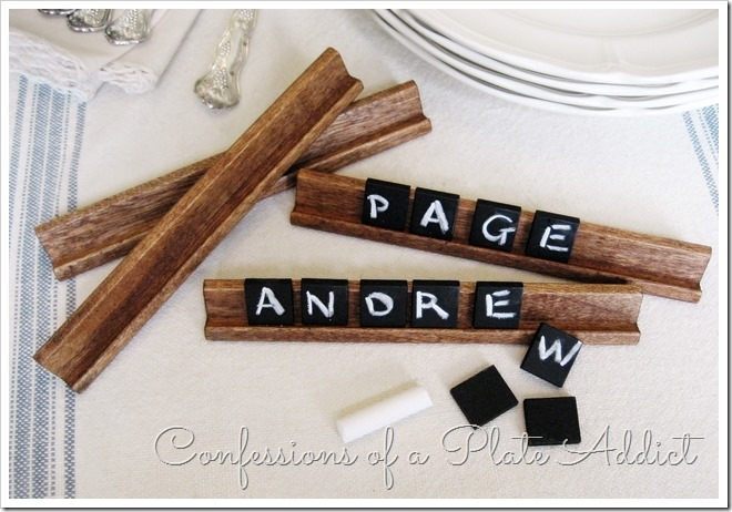 Pottery Barn Inspired Chalkboard Tile Place Cards