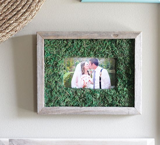 diy moss frame mountainmodernlife.com