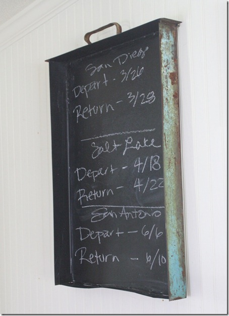 diy industrial chalkboard drawer