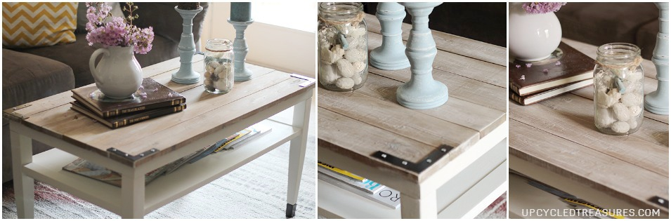 See how this worn out, thrifted find was transformed into a DIY Farmhouse Style Coffee Table! MountainModernLife.com