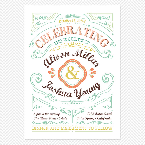 Designing Your Own Wedding Invitations Mountain Modern Life
