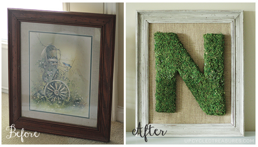 Looking for some added flare in your wedding or home decor? Check out this tutorial for Moss Monogram Wall Decor! MountainModernLife.com