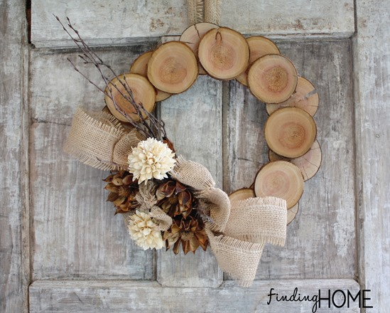 Wood & Burlap Fall Wreath via Finding Home