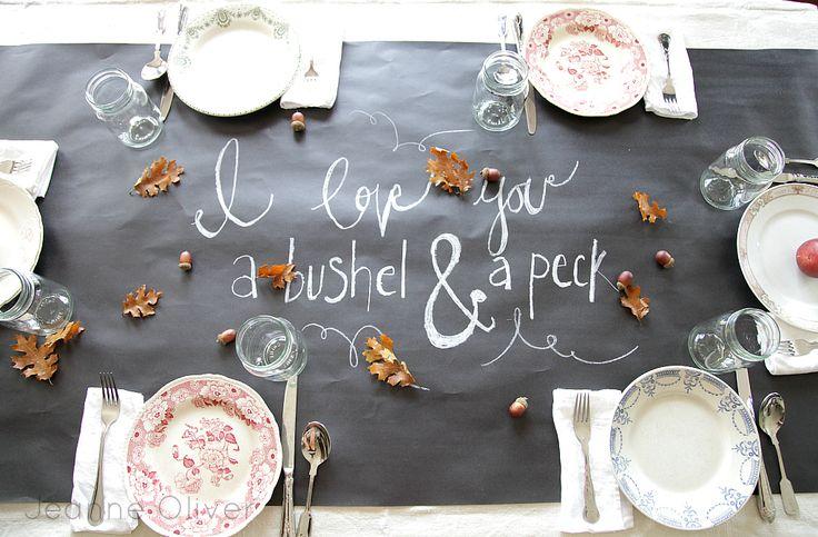 Fall Tablescape via Jeanne Oliver Designs