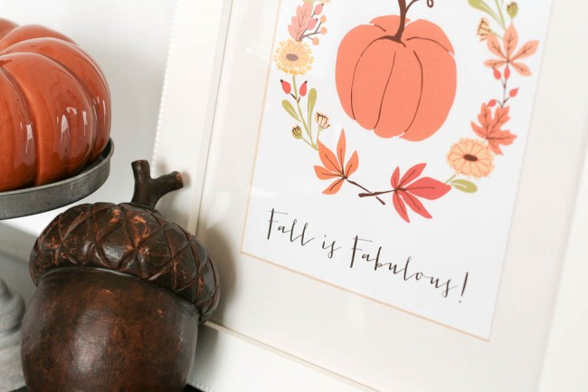 Fall is Fabulous Printable via The TomKat Studio