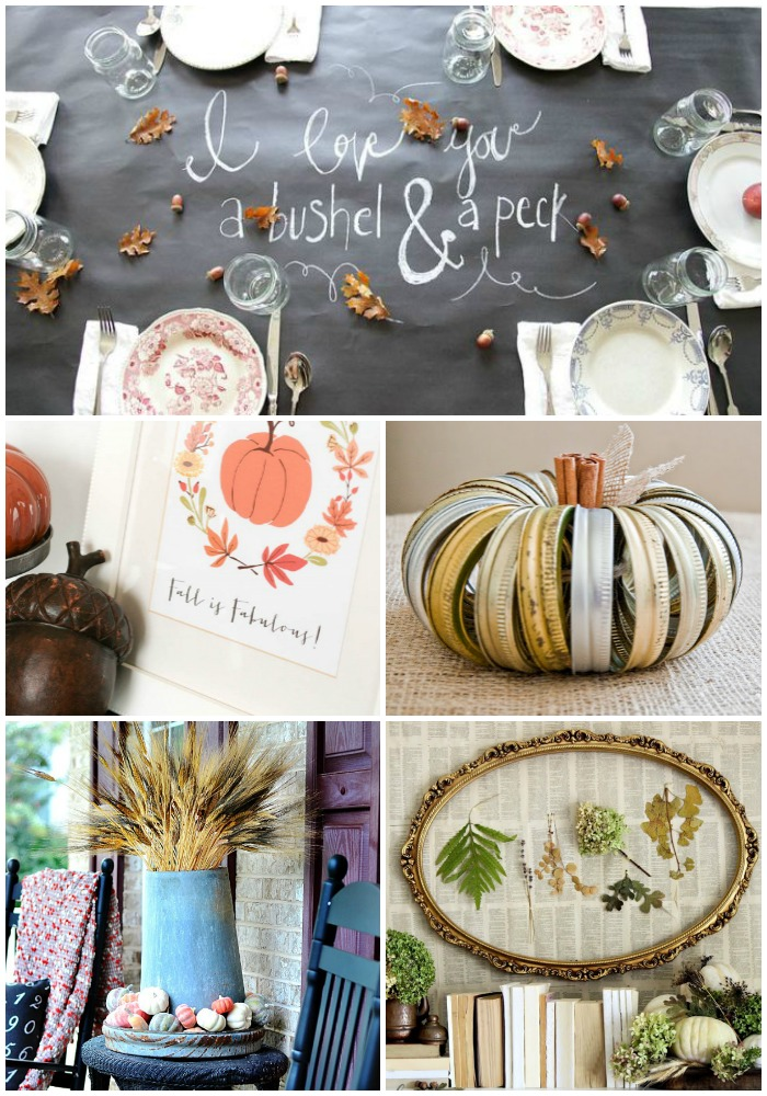 Favorite fall projects and inspiration from bloggers.