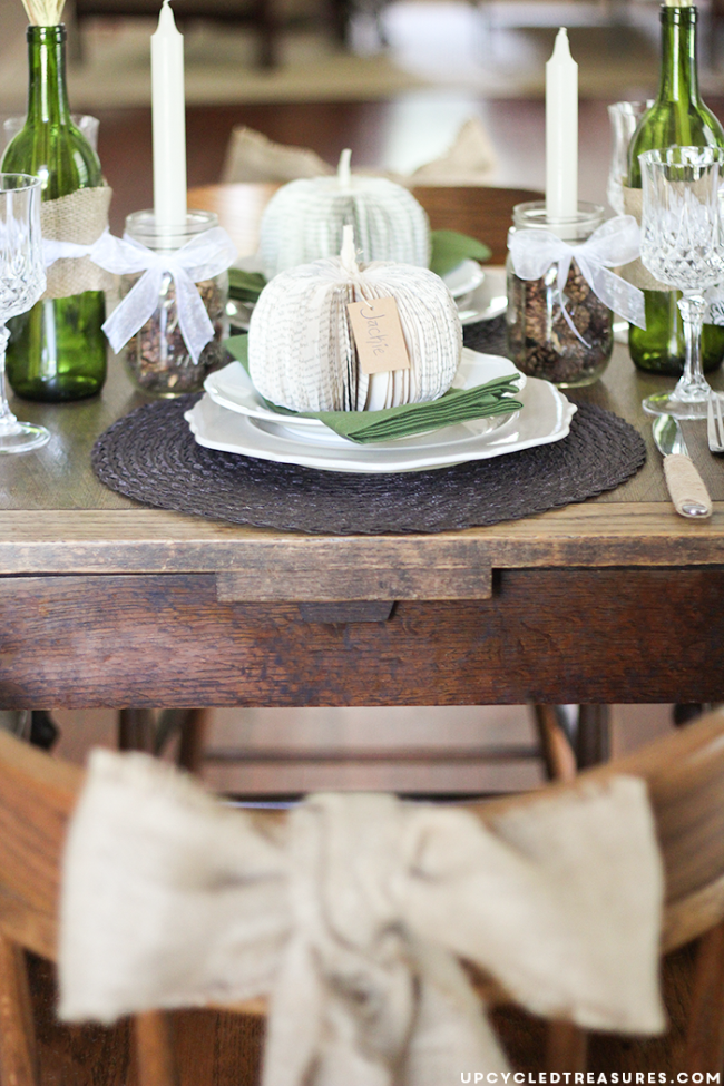 Tablescape Ideas 5 fall tablescape ideas | upcycled treasures