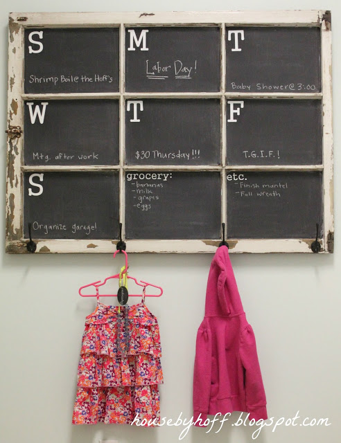Old Window Chalkboard Calendar via House by Hoff