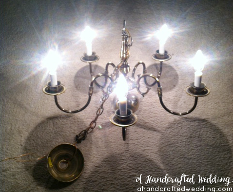 Diy Mason Jar Chandelier Before