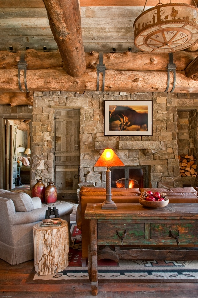 Cozy Log Cabin Design via Dan Joseph Architects