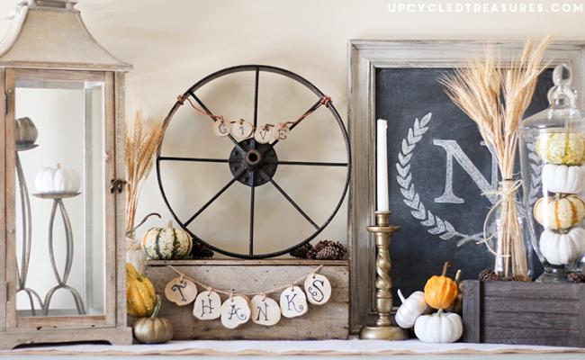 rustic thanksgiving vignette