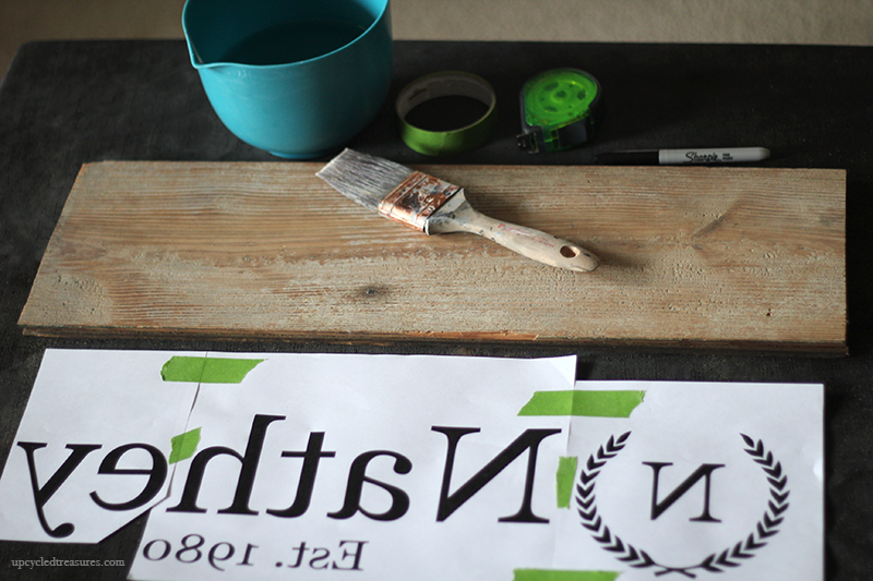 Looking for a thoughtful gift idea? See how easy it is to create this Family Established Monogram Wooden Sign using your Printer! MountainModernLife.com