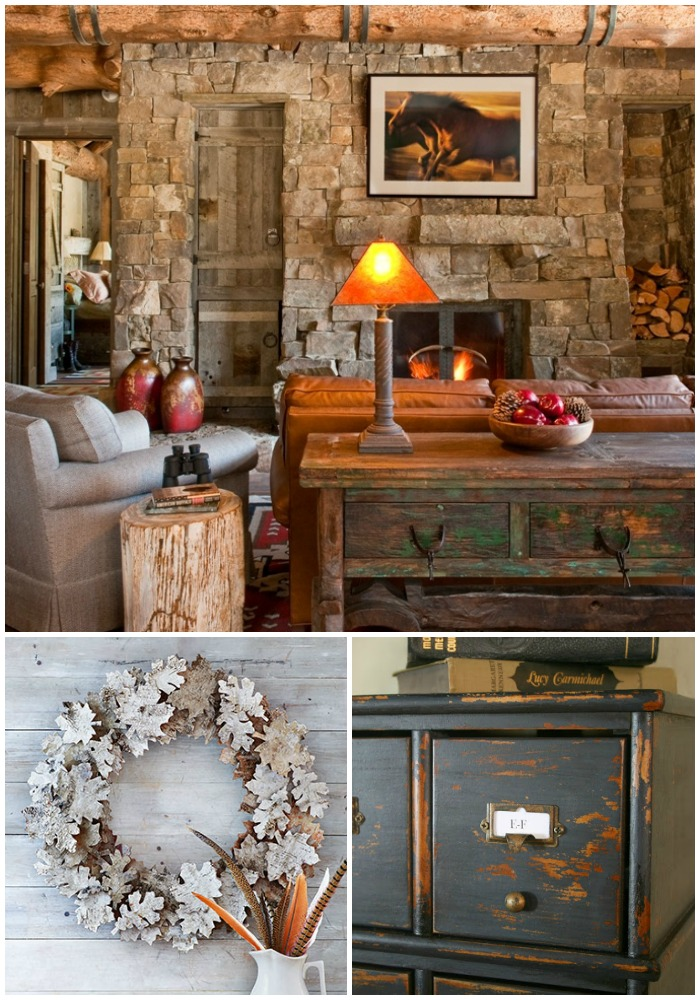 A few of my favorite finds around the web including a gorgeous log cabin, birch bark leaf, and how to bleach pinecones.