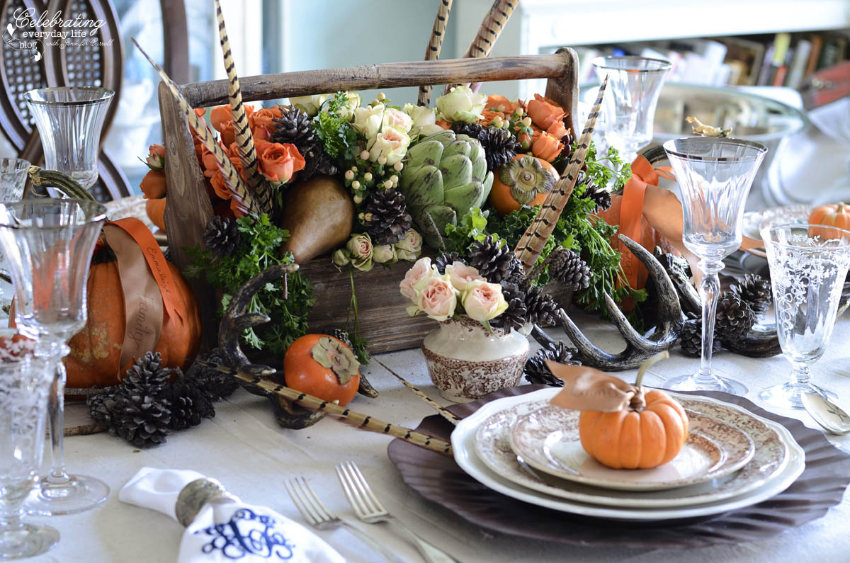 Nature inspired thanksgiving tablescapes - Thanksgiving table setting ideas ...