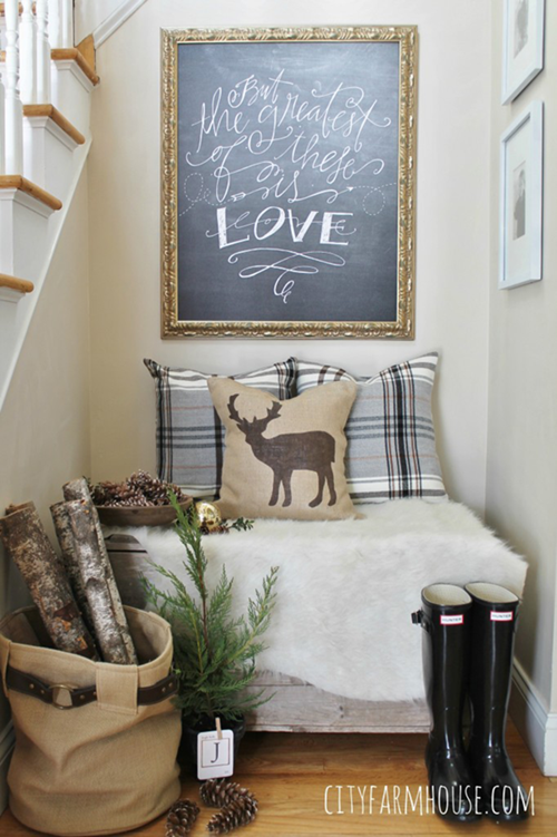Holiday House Tour via City Farmhouse