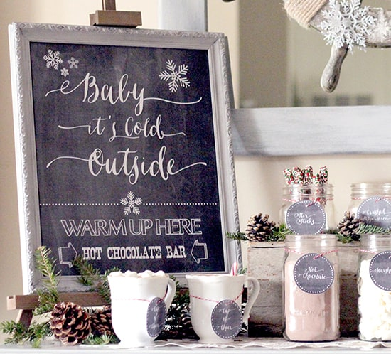 baby its cold outside hot chocolate bar printable mountainmodernlife.com