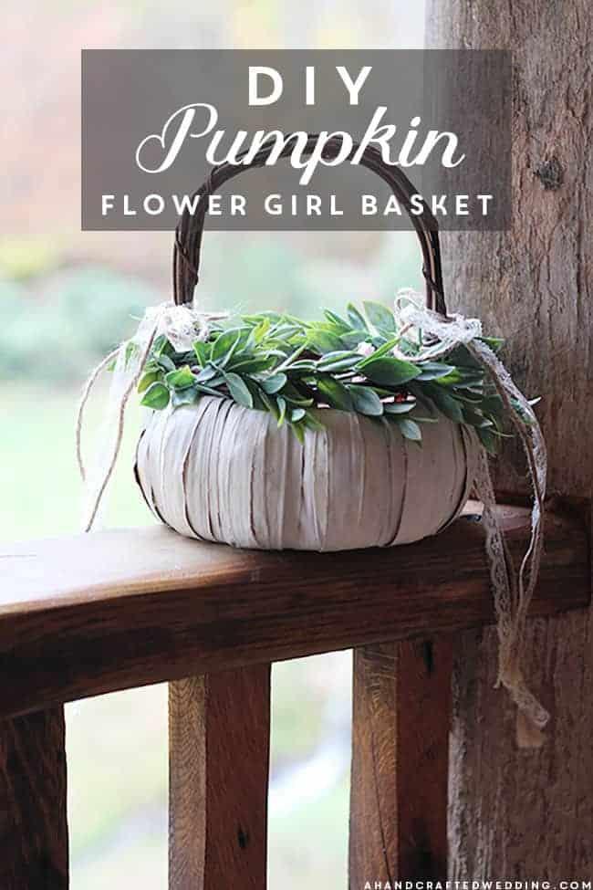 DIY Pumpkin Flower Girl Basket