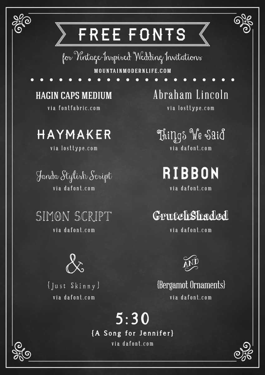 Vintage Wedding Invitation Templates – gangcraft.net