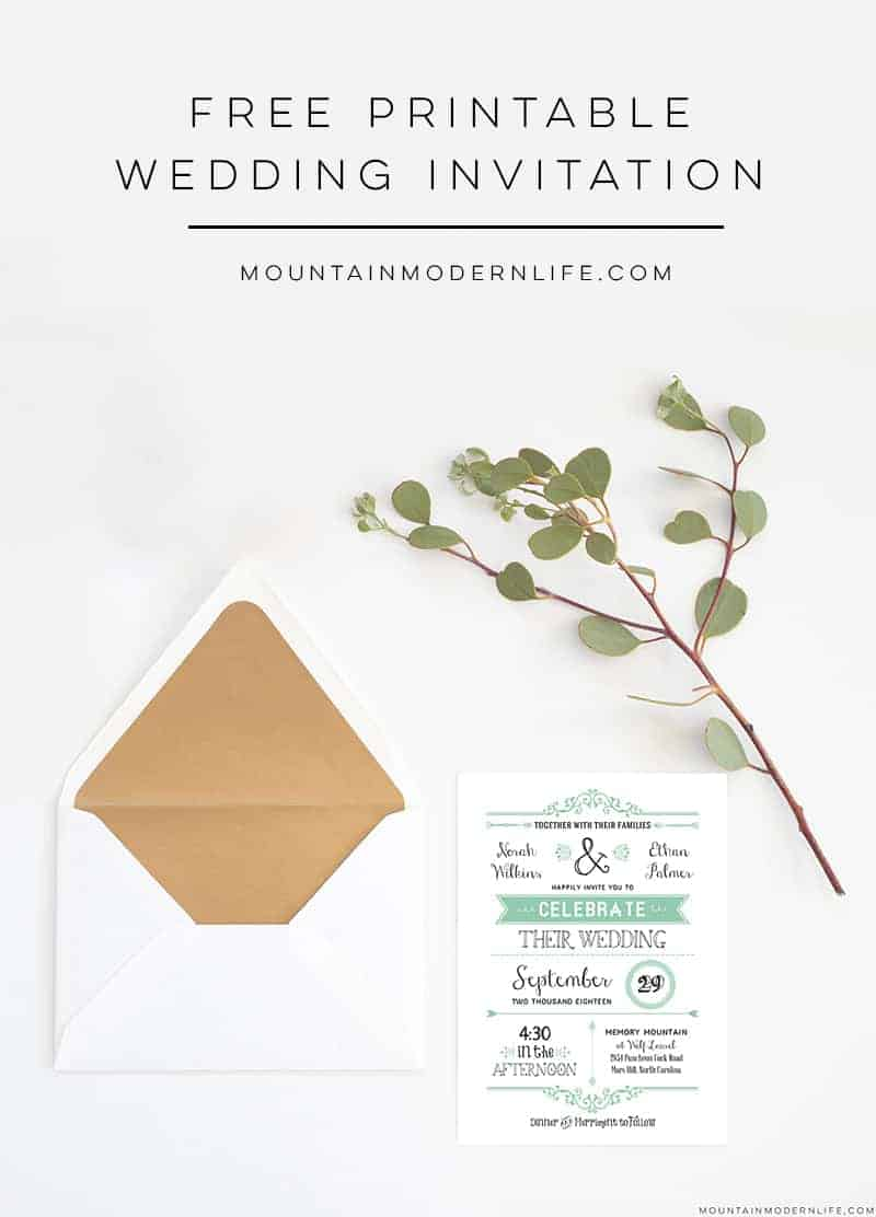 free printable wedding invitation templates - free wedding invitation template