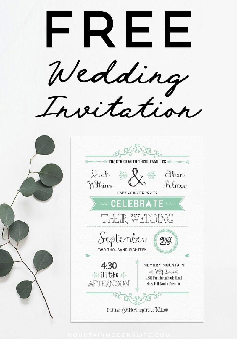 photograph about Wedding Stationery Printable referred to as Absolutely free Marriage Invitation Template