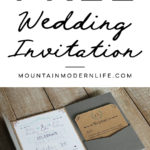 Planning a vintage-inspired or rustic wedding? Download this FREE DIY Rustic Wedding Invitation Template from MountainModernLife.com!