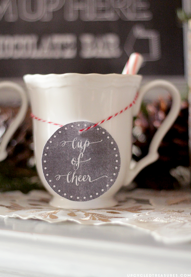 "FREE Hot Chocolate Bar Printable that says ""Baby It's Cold Outside"". Perfect for holiday parties or weddings! MountainModernLife.com"
