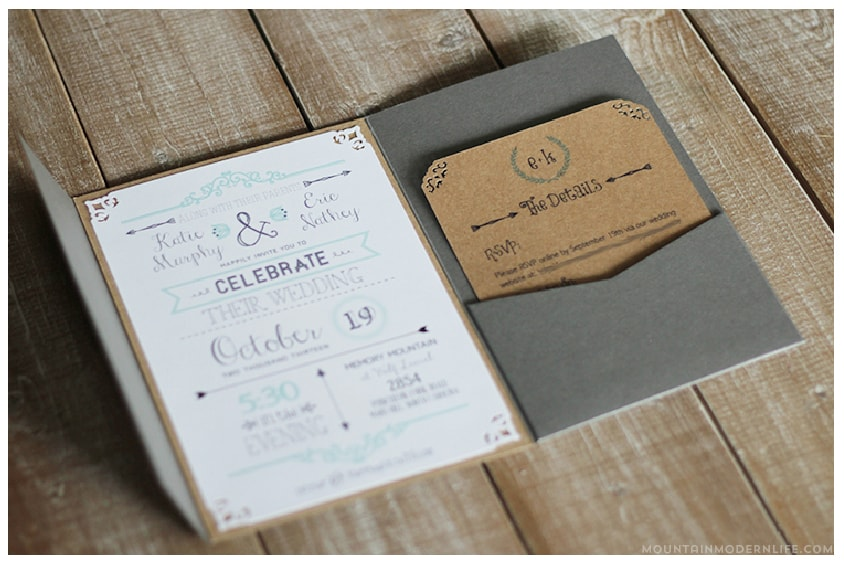free wedding invitation template | mountainmodernlife,