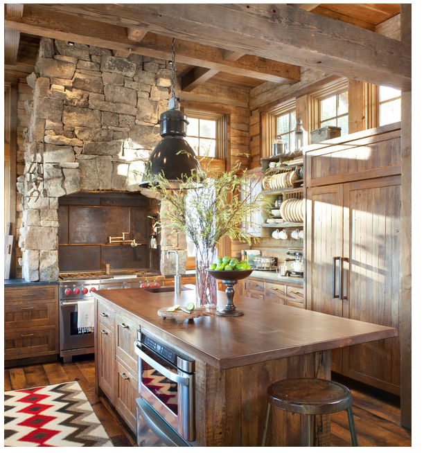 Rustic Kitchen via Peace Design on Houzz