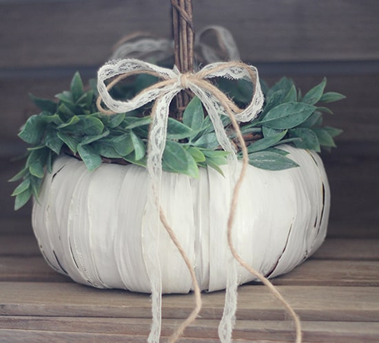 white pumpkin flower girl basket mountainmodernlife.com