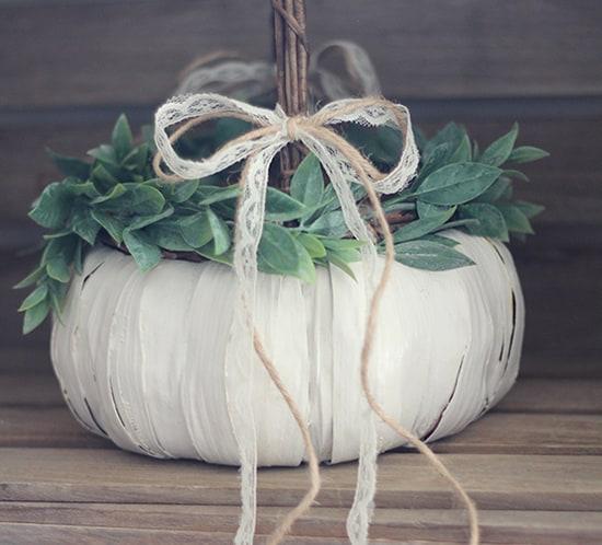 Flower Girl Basket Modern : Diy pumpkin flower girl basket mountainmodernlife