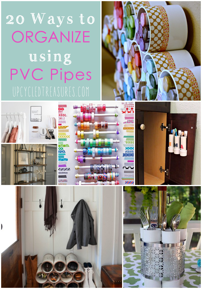 Organize using pvc pipes for Pvc pipe crafts
