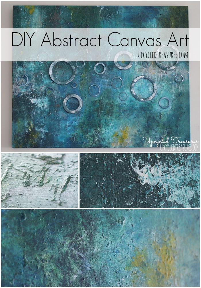 Diy abstract canvas art for Diy abstract acrylic painting