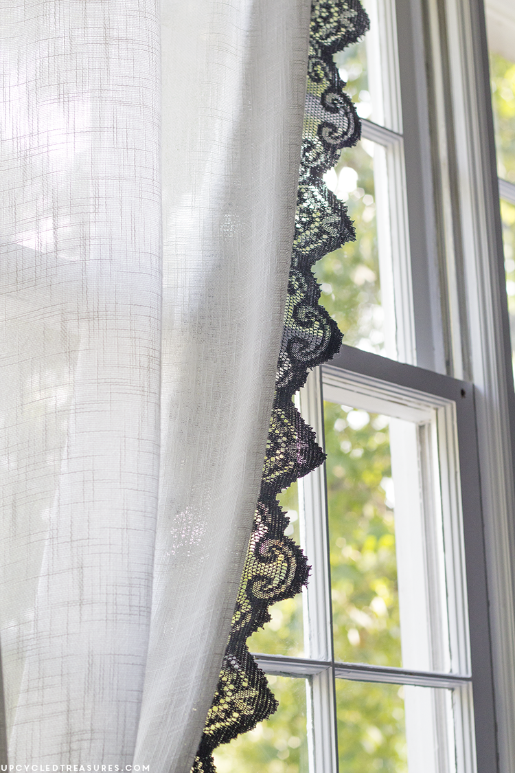 Diy Lace Curtains Close Up