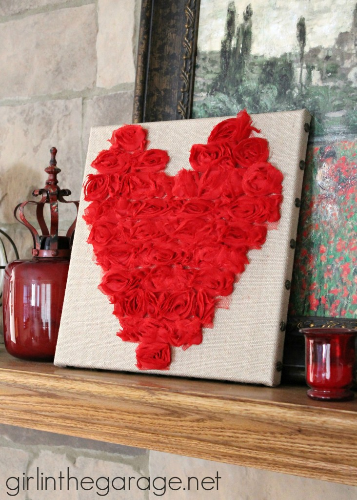 20 Valentine Craft Ideas that you can do last minute | Rose Heart Art | Girl in the Garage