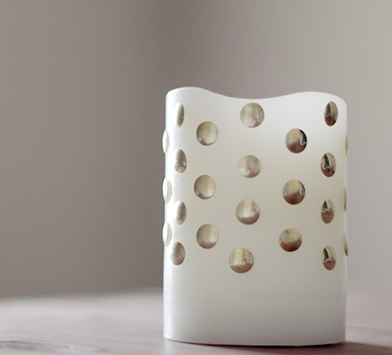 how to spruce up faux candles using thumbtacks mountainmodernlife.com